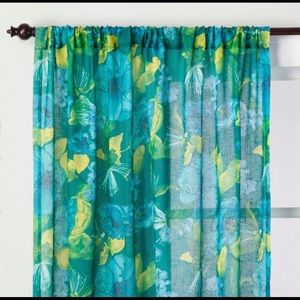 Indochic Floral Sheer Curtain Panel